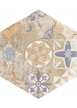 Dlažba Flamenco Beige Natural Hexagon 28×33 (2)