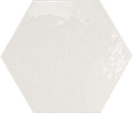 Hexagon brillo Blanco