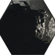 Hexagon brillo Negro
