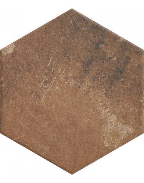 Dlažba Scandiano Rosso Hexagon 26×26