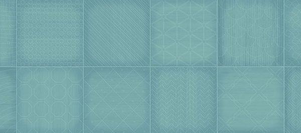 Dekor Grany Turquoise 25×75