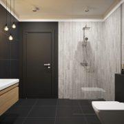 Dlažba Laroya Gris 17×89 koupelna