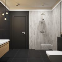 Dlažba Laroya Gris 17x89 koupelna