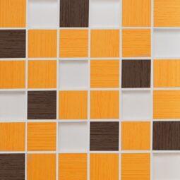 Via Veneto mozaika arancio bruno 30x30