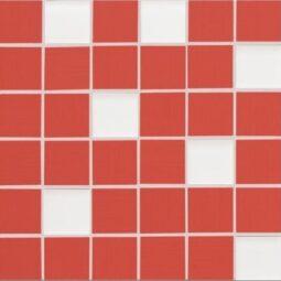 Via Veneto mozaika rosso 30x30