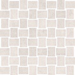 Dlažba Prince white lapp. rekt. mozaika 30x30
