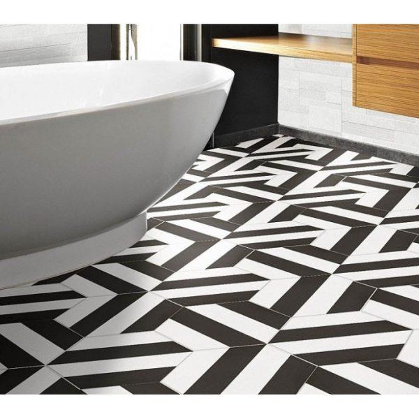 Koupelna Porto Capri Black Hex. 22×25