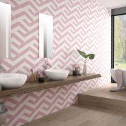 Koupelna Porto Capri Pink Hex. 22×25