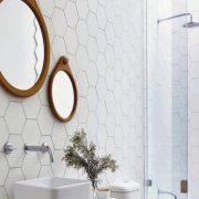 Koupelna Porto White Hex. 22×25