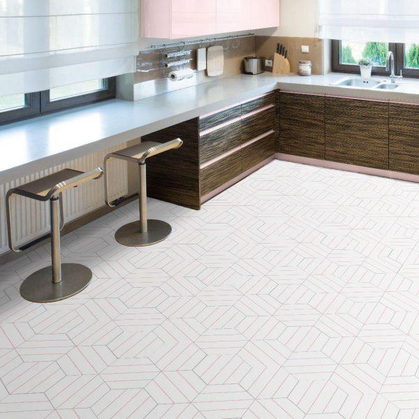 Kuchyně Porto Dlažba Pink 22×25