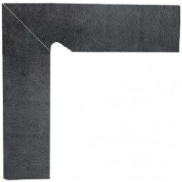 Dlažba Bazalto Grafit Sokl 2 levý 8,1x30