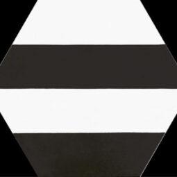 Dlažba Porto Capri Black Hex.22x25