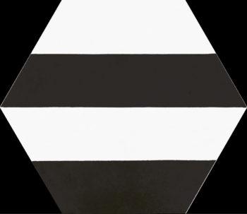 Dlažba Porto Capri Black Hex.22×25