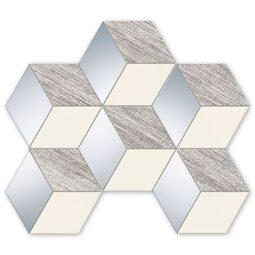 Mozaika Senza šedá hex 22,1x29,8