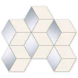 Mozaika Senza bílá hex 22,1x29,8