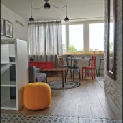 Dlažba Patchwork Clover Black obývací pokoj