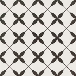 Dlažba Patchwork Clover black pattern 29,8x29,8
