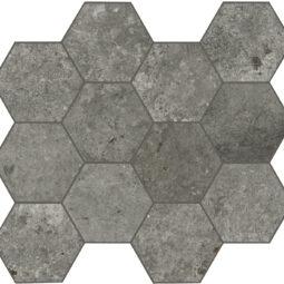 Dlažba Debris soot hexagon 30x34