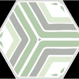 Dlažba Jasmine green Hex 25