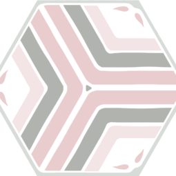 Dlažba Jasmine pink Hex 25