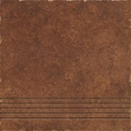 Dlažba Riva brown schodovka 33x33