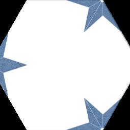Dlažba Stella Azul hex 25