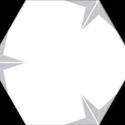 Dlažba Stella Silver hex 25