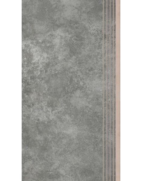 Dlažba Apenino Antracyt mat schod 29,7×59,7