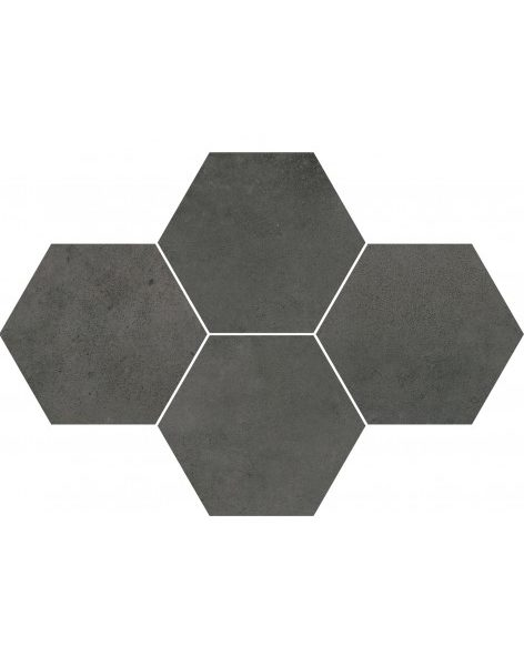Dlažba Maxima Dark Grey Hexagon 28,3×40,8