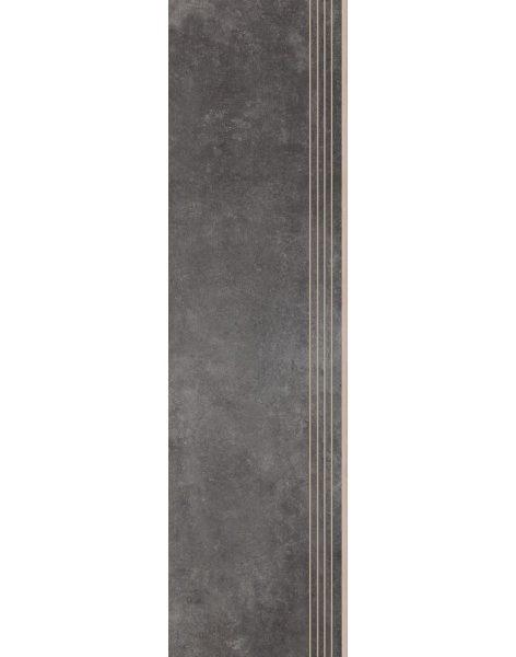 Dlažba Tassero grafit Rekt. Schod 119,7×29,7