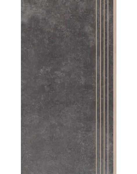 Dlažba Tassero grafit Rekt. Schod 59,7×29,7