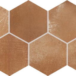 Dlažba Via brown hexagon 21x37