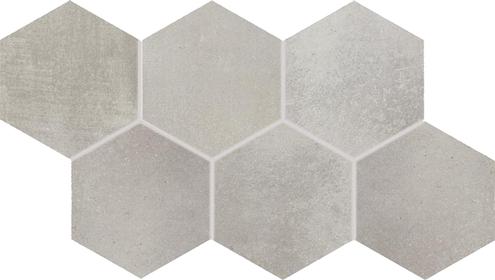 Dlažba Via grey hexagon 21×37