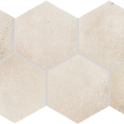 Dlažba Via light beige hexagon 21×37