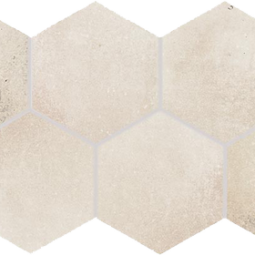 Dlažba Via light beige hexagon 21x37