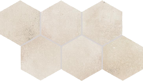 Dlažba Via light beige hexagon 21×37