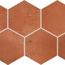 Dlažba Via red-brown hexagon 21x37
