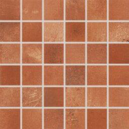 Dlažba Via red-brown mozaika 30x30