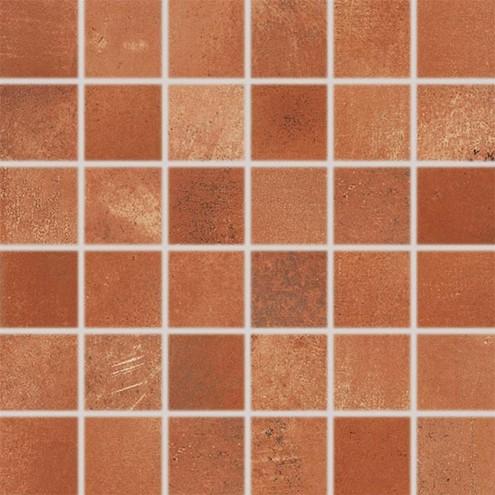 Dlažba Via red-brown mozaika 30×30