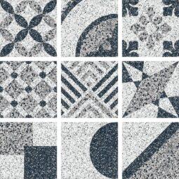Dlažba terrazzo dekor Random Mix 25x25