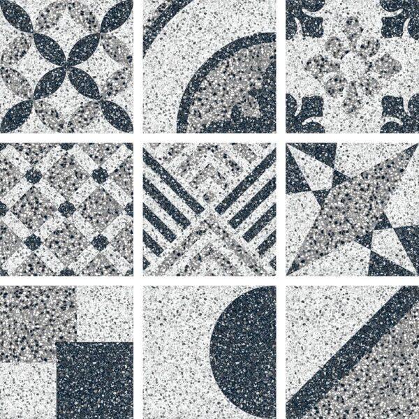 Dlažba terrazzo dekor Random Mix 25×25