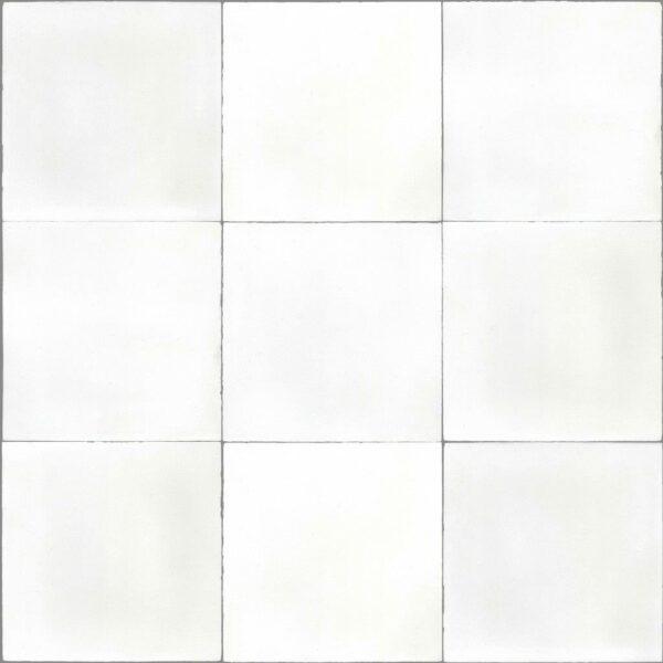 Dlažba Atelier Retro 13,8×13,8 blanc