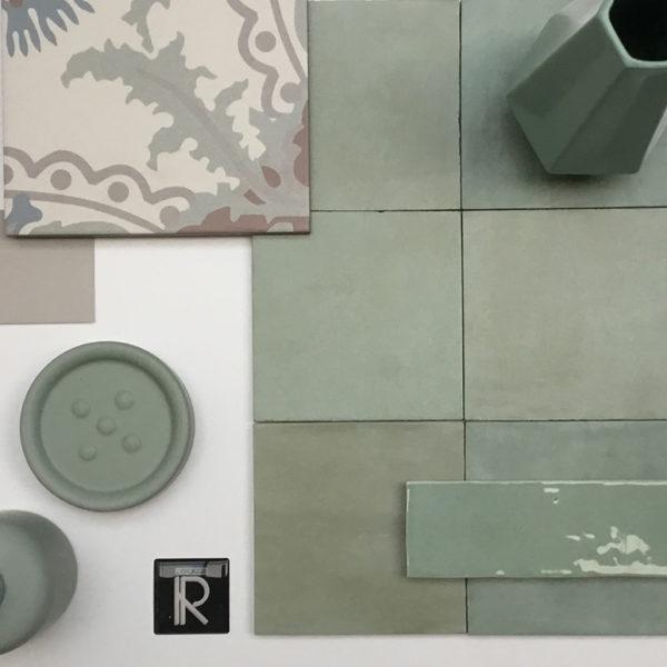Dlažba Atelier Retro 13,8×13,8 vert d´eau3