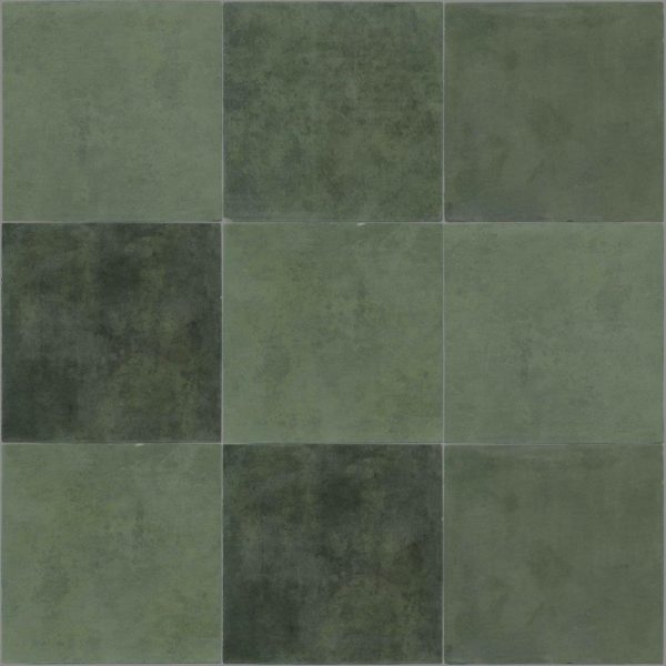 Dlažba Atelier Retro 13,8×13,8 vert emeraude