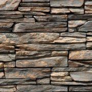 Obklad umělý kámen Tvd štípaná břidlice 20×50 Ontario tmavý