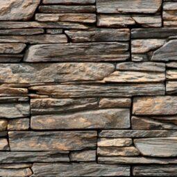Obklad umělý kámen Tvd štípaná břidlice 20x50 Ontario tmavý