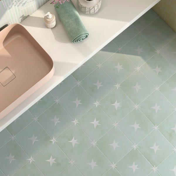 Agatha 21 dlažba hexagon koupelna