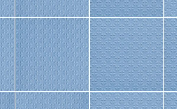Dlažba Gammo Niebieski struktura vzor 19,8×19,8