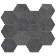 Dlažba Heritage Carbon hexagon 30×34
