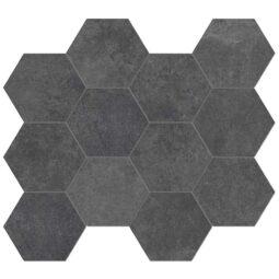 Dlažba Heritage Carbon hexagon 30x34
